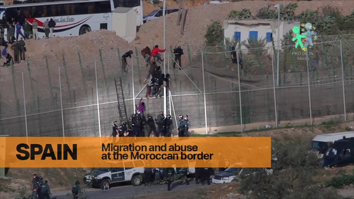 Migrants abused at the border.